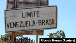 Indicator spre frontiera dintre Venezuela și Brazialia