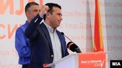 Zoran Zaev gjatë konferencës për media. 30 tetor, 2017