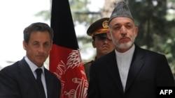 Никола Саркози и Хамид Карзаи