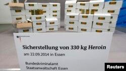 Федеральна служба кримінальних розслідувань Німеччини демонструє перехоплений вантаж, 9 жовтня 2014 року