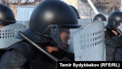 Pjesëtarë të policisë së Kirgizisë