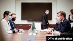 Эммануэль Макрон встретился со Светланой Тихановской. Вильнюс, 29 сентября 2020 года