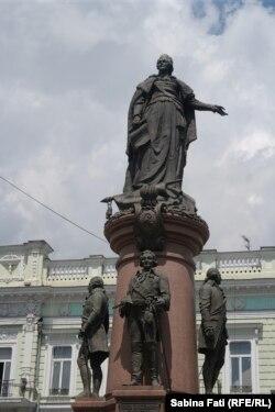 Odesa 2016: Statuia Împărătesei Ecaterina cea Mare