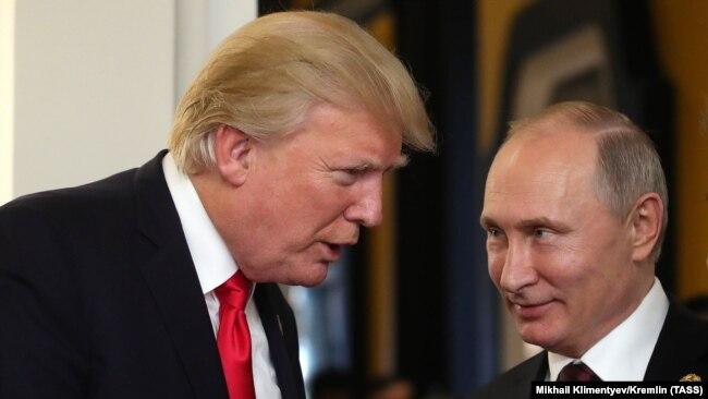 Дональд Трамп и Владимир Путин, 11 ноября 2017