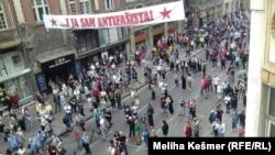 Protest antifašista povodom održavanja mise bleiburškim žrtvama