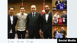 Türkiyə prezidentinin rəsmi saytında yerləşdirilmiş foto