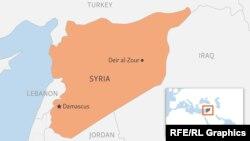 Місто Дейр-ез-Зор на мапі Сирії