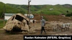 Сузак, Кыр-Жол айылы кырсыктан кийин. 24-май
