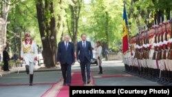 Donald Tusk primit la Chișinău de președintele Nicoale Timofti