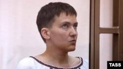 Jailed Ukrainian pilot Nadia Savchenko in court during a hearing on March 3.