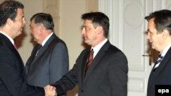 Serge Brammertz sa članovima Predsjedništva BiH