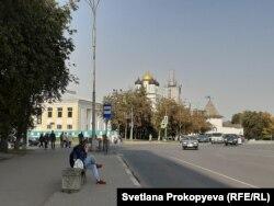 Центр Пскова, площадь Ленина