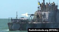 Бойові стрільби українських сили морської охорони, Бердянськ