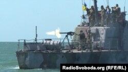 Боевые стрельбы украинских сил морской обороны в районе Бердянска