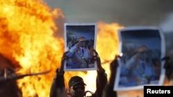 Mbështetësit e Gadafit në Tripoli