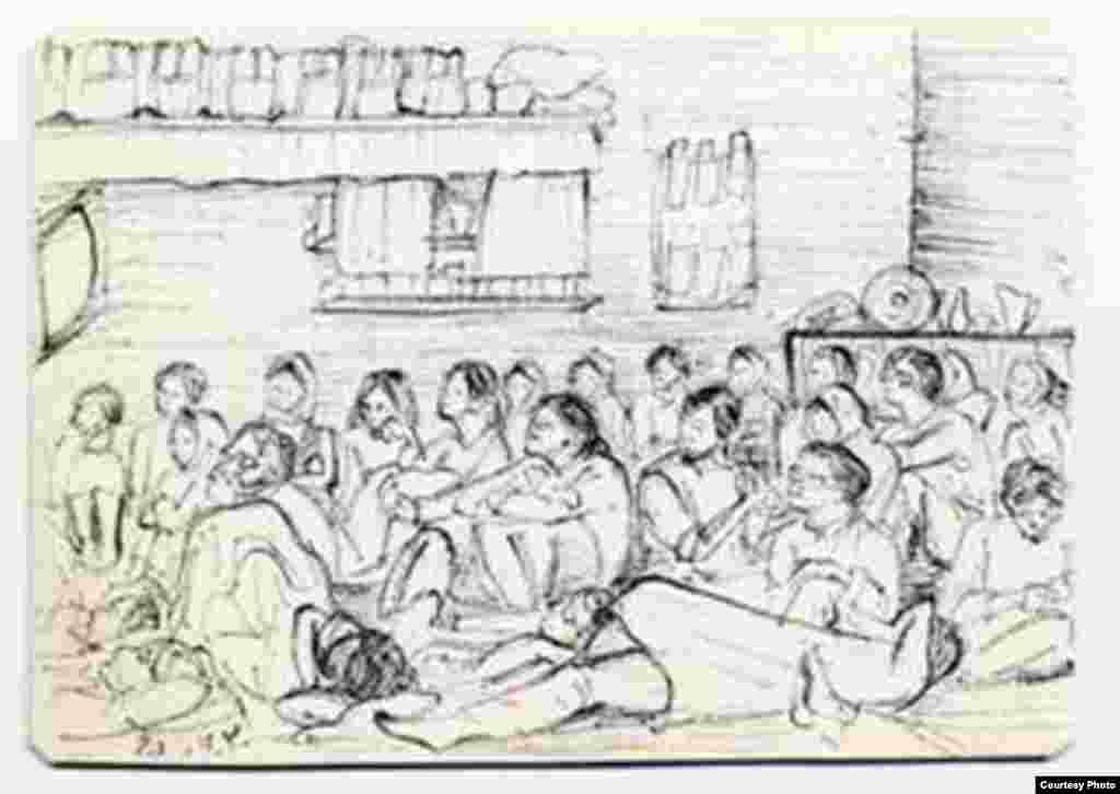 زندانیان هنگام تماشای تلویزیون