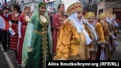 Празднование годовщины «крымского референдума». Симферополь, 16 марта 2017 года
