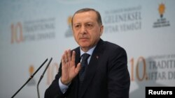Түркия президенті Режеп Ердоған. Анкара, 6 маусым 2017 жыл.