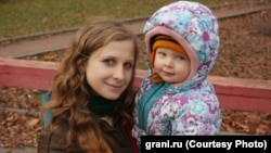 Marija Aljehina sa sinom Filipom(photo from grani.ru)