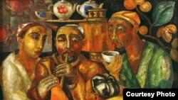 Одна из картин, хранящаяся в Нукусском музее искусств имени Савицкого.