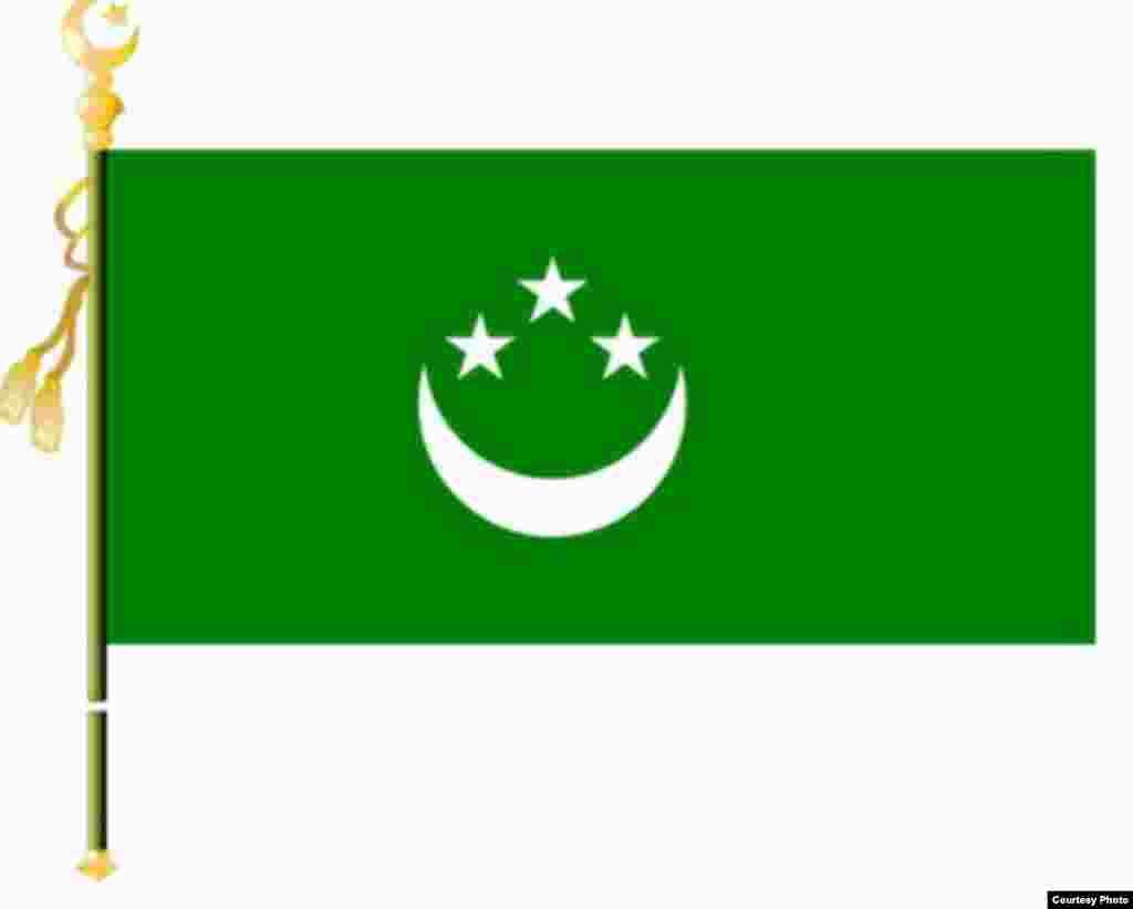 У квазигосударства был свой флаг, который был запечатлен и на денежных знаках.