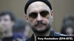Russian theater and film director Kirill Serebrennikov attends a court hearing in Moscow on August 16.