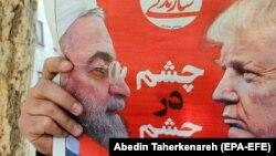 Confruntarea SUA-Iran pe prima pagina a unui cotidian de la Teheran, aprilie 2019