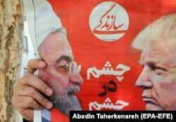 Ove mere su svakako udar na poziciju umerenog, konzervativnog predsednika Irana Hasana Rohanija (Fotografija: naslovnica iranskih novina Sazandegi, april 2019.)