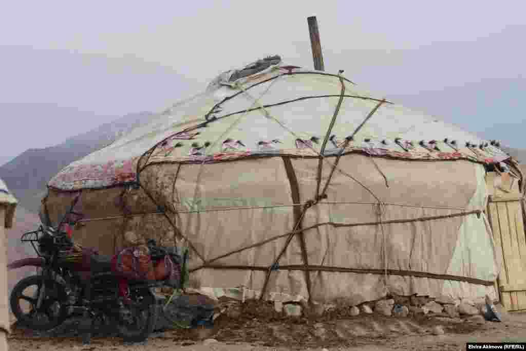 Основное жилище памирских кыргызов - юрта.