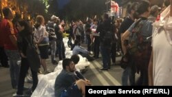 Акция протеста в Тбилиси, Грузия, 29 июня 2019 года
