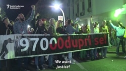 Montenegrin Antigovernment Protesters Hold Sixth Weekend Rally