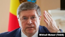 Moldovan Ambassador to Russia Andrei Neguta meets with journalists at the Moldovan Embassy in Moscow on August 7.