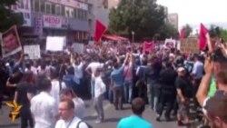 Ethnic Albanians Protest Murder Case Ruling In Skopje