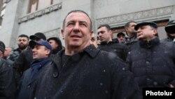 Armenia - Prosperous Armenia Party leader Gagik Tsarukian takes part in an opposition rally in Yerevan, February 20, 2021.