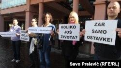 Protest u Podgorici u znak solidarnosti sa roditeljima u Bijelom Polju