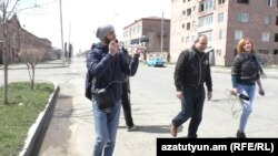 Armenia - Opposition leader Nikol Pashinian starting a long political march in Gyumri, 31 March 2018.