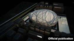 Универзална сала во Скопје, идејно решение од 2013 година