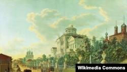 Вид на Дом Пашкова - один из самых красивых памятников архитектуры Москвы - может быть изуродован новым строительством, полагают защитники архитектурного облика Москвы