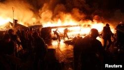 Штурм Майдану увечері 18 лютого