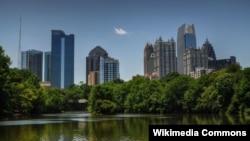 Вид на столицу Джорджии Атланту.