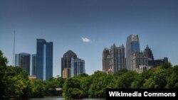 Вид на столицу Джорджии Атланту