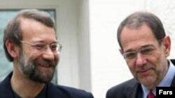 مذاکرات علی لاريجانی و خاوير سولانا درباره برنامه هسته ای ایران روز پنجشنبه ادامه خواهد یافت