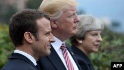 Emmanuel Macron, Donald Trump və Theresa May