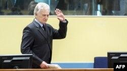 Момчило Перишич в Гаагском трибунале, 28 февраля 2013 гю