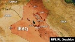 Карта Ирака. Иллюстративное фото.