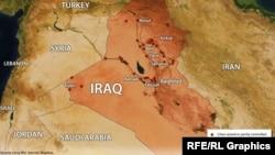 خارطة تبين مواقع داعش في 23 حزيران 2014