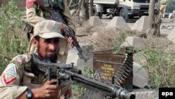 Pakistani Frontier Corps troops in Hangu (file photo)