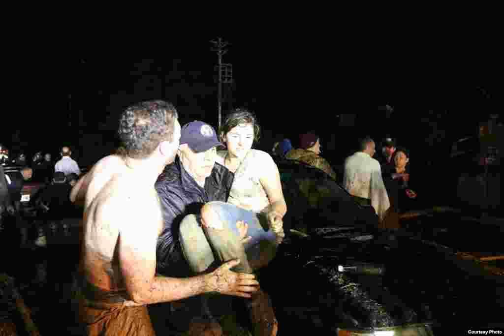 Эвакуация в Тбилиси