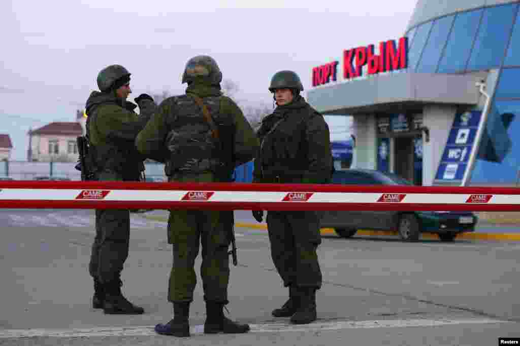 «Зелені чоловічки» захопили і кримську поромну переправу, 3 березня 2014 року