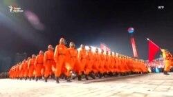 Необычный военный парад в КНДР